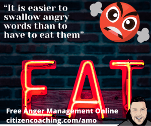 Anger Management Quotes Eat My Words a neon sign says eat