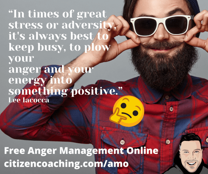 Anger Management Quotes Positivity from ahappy man trendy with sunglasses