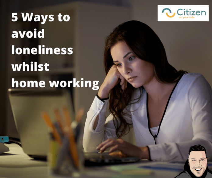 5 ways to overcome loneliness in home working woman working from home
