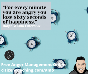 Anger Management Quotes for every minute you are angry lots of clocks to illustrate time